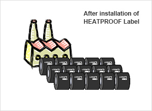 image : After installation of HEATPROOF Label